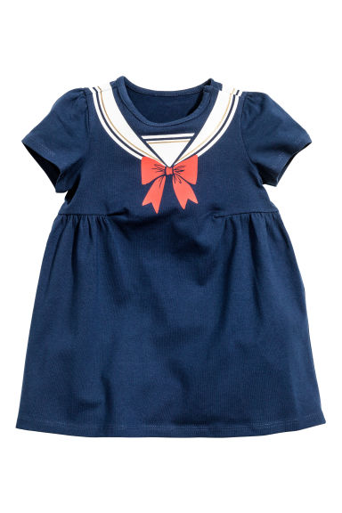 Jersey dress - Dark blue - Kids | H&M 1